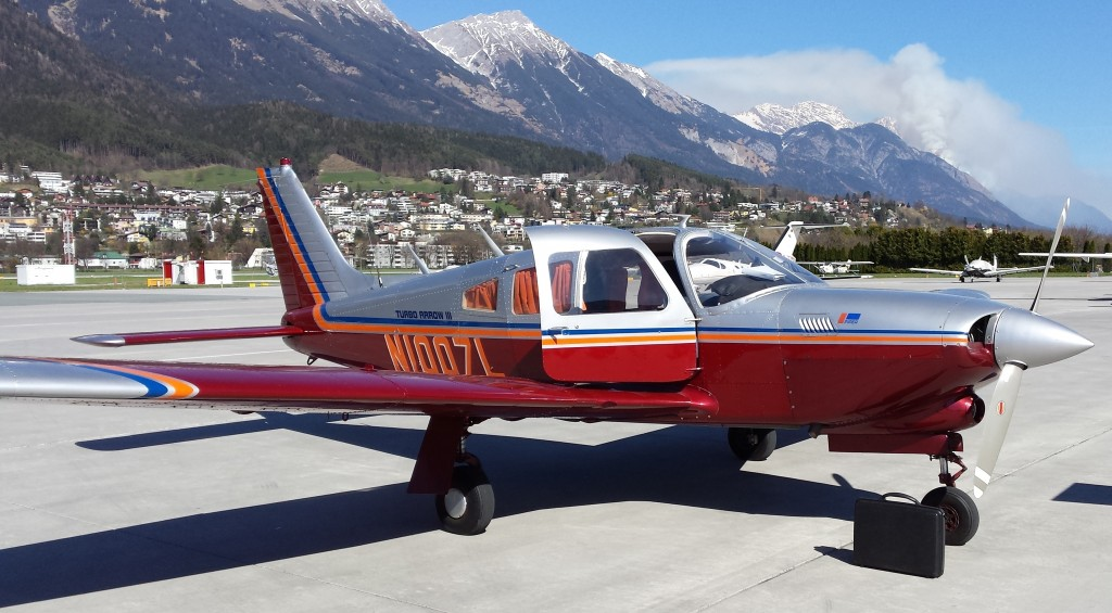 For sale in Germany, this beautiful 1977 Piper Turbo Arrow III